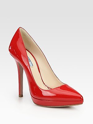 Patent Leather Pointed Toe Platform Pumps