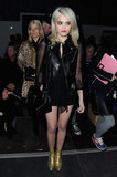 Sky Ferreira was front row at Saint Laurent.
