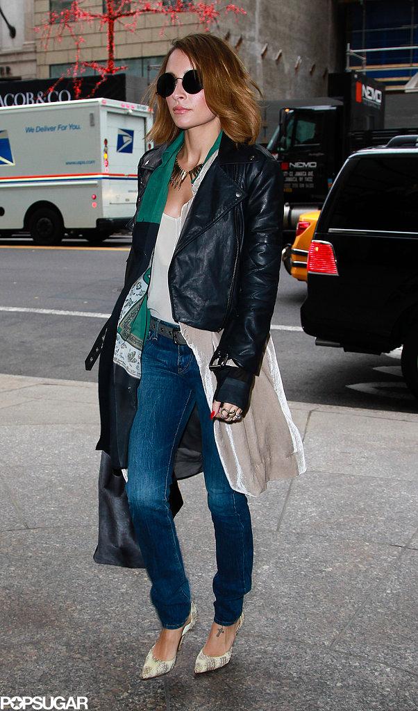Nicole Richie Swings Through NYC Ahead of Fashion Star's Return