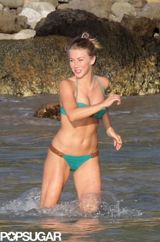 Julianne Hough ran through the water in St. Barts in January 2012.