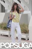 Alessandra Ambrosio modeled a casual look.