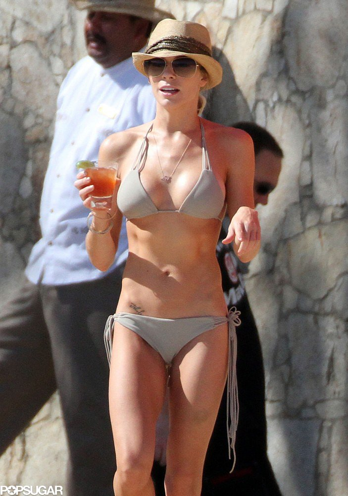 LeAnn Rimes slipped on her bikini in December 2010 in Mexico.