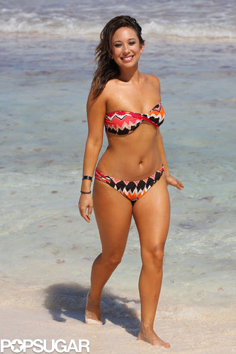 Cheryl Burke strutted her stuff in the Dominican Republic in February 2011.
