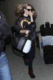 Amanda Seyfried didn't leave home without her colorblocked Givenchy Lucrezia tote while taking a flight out of LAX. Her exact version isn't available online, but you can shop similar styles here.