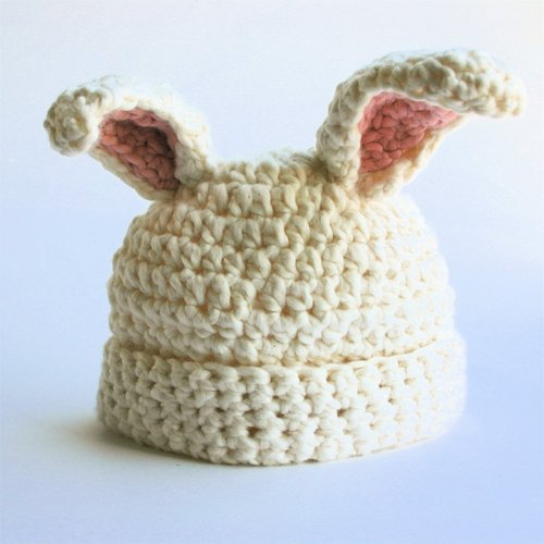 Adrienne Kinsella White Chocolate Bunny Hat
