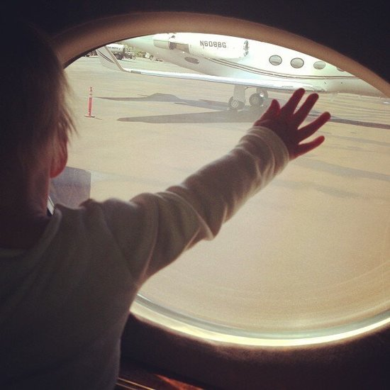 Luca Comrie didn't want to say goodbye to his vacation! Source: Twitter user HilaryDuff
