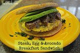 Steak, Egg &amp; Avocado Breakfast Sandwich