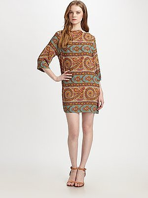 Tender Paisley Shift Dress