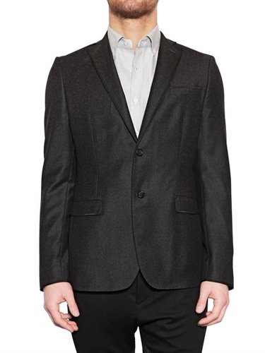 Tonello - Silk Piping Wool Cashmere Flannel Jacket