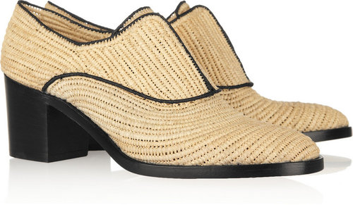 Reed Krakoff Raffia Oxford shoes