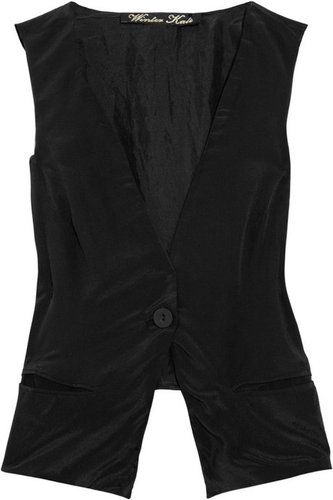 Winter Kate Stella silk-crepe vest
