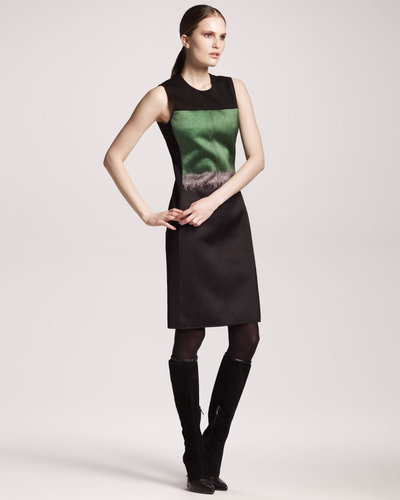 Reed Krakoff Mohair Printed Satin Dress