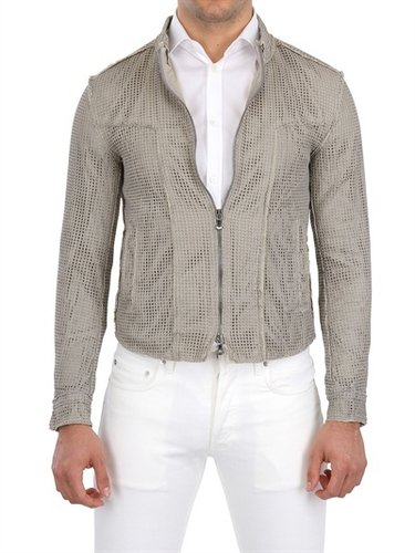Dolce & Gabbana - Nappa Net Mesh Leather Jacket