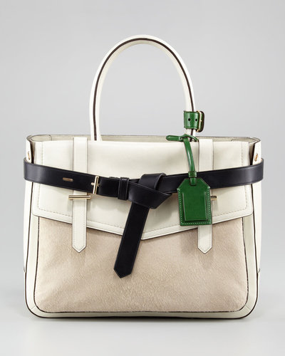 Reed Krakoff Boxer Tote Bag, Camel/Ivory