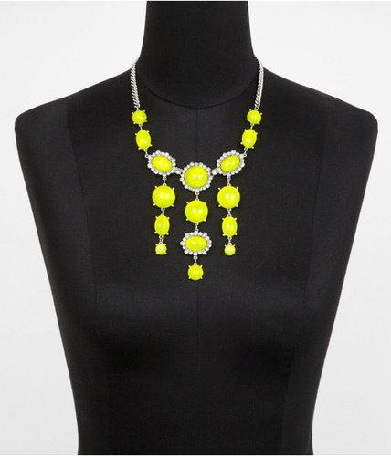 Neon Cabochon Bead Dangle Necklace