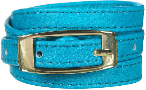 Teal Soft Skinny Leather Belt