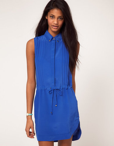 ASOS Shirt Dress With Elastic Waist