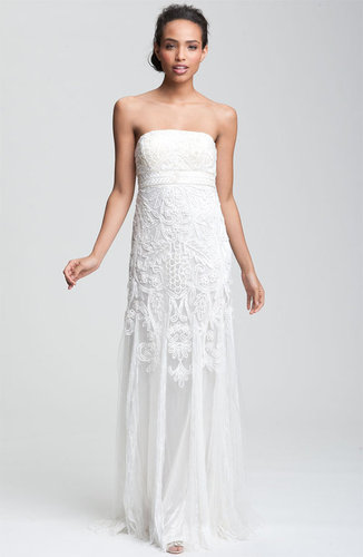 Sue Wong Embellished Strapless Gown.