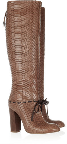 Chlo Python knee boots