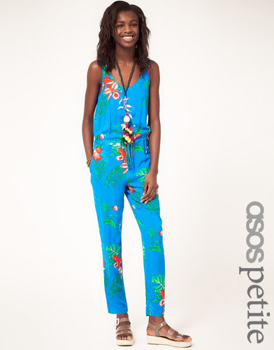 ASOS PETITE Exclusive Jumpsuit In Tropical Print