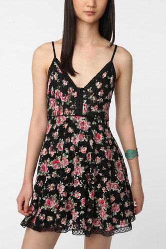 Betsey Johnson Pink Label Floral Lace Tank Dress