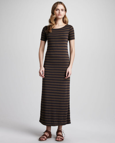 Theory Striped Maxi Dress