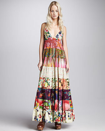 Dallin Chase Tiered Mixed-Print Maxi Dress (Stylist Pick!)