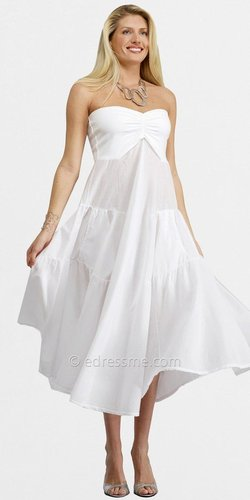 Strapless Tiered Day Dresses by Luna Luz