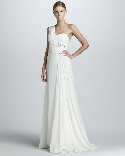 Notte by Marchesa One-Shoulder Grecian Gown