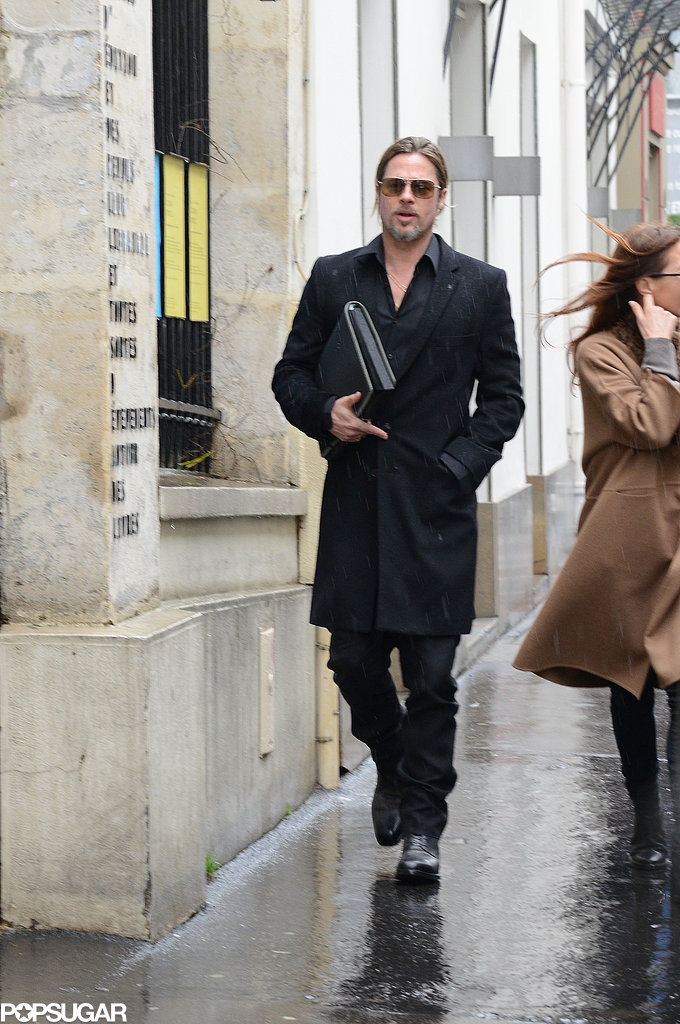 Brad Pitt went furniture shopping in Paris after news broke that his and Angelina Jolie's wine, Mir