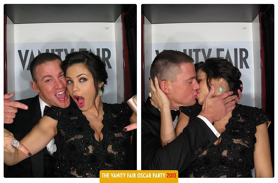 Channing and Jenna posed in Vanity Fair's Oscars party photo booth in February.