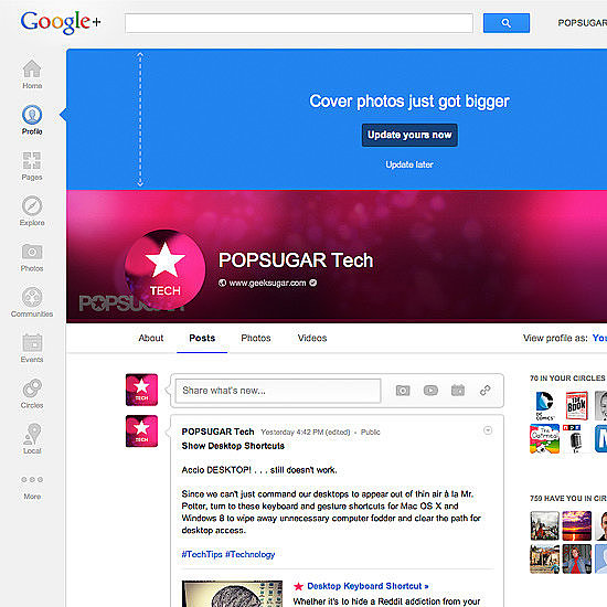 A Bigger Google Plus Cover