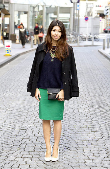 Congrats, fashionbento! Chic in emerald green.