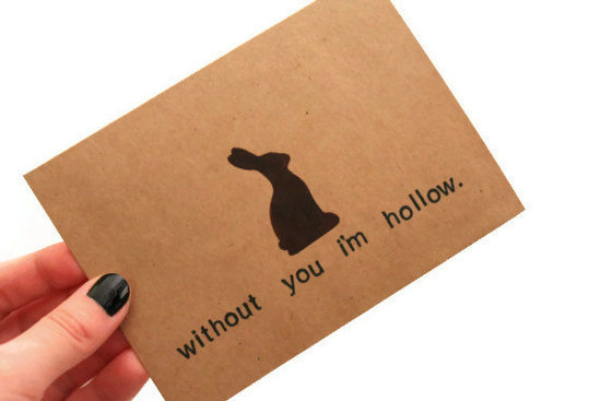 Even if you can't spend the holiday with loved ones, you can still make them laugh with this funny Easter card ($5).