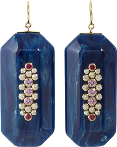 Mark Davis Bakelite & Multi-Gemstone Emmelyne 2 Earrings
