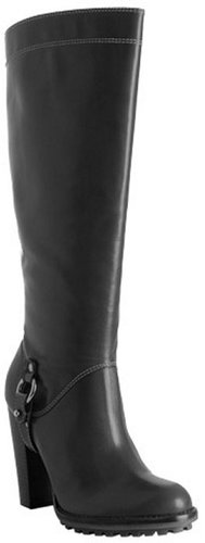 KORS Michael Kors black leather 'Mammoth' boots