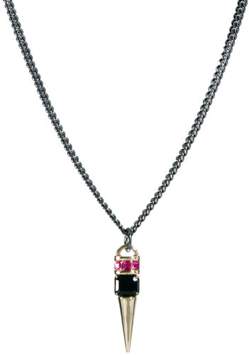 ASOS Jewel Spike Short Pendant Necklace
