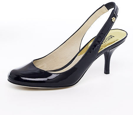 MICHAEL Michael Kors Pressley Mid-Heel Slingback Pump, Black or Natural