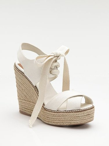 Tory Burch Lace-Up Canvas Platform Espadrilles