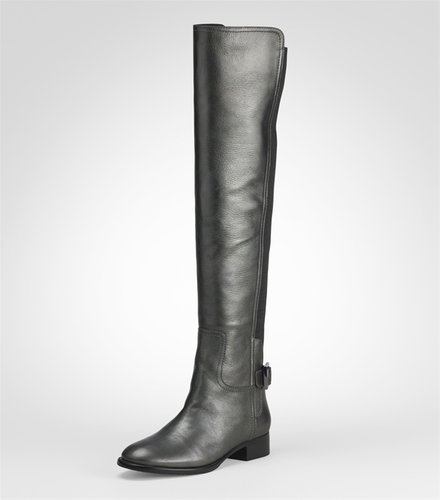 Metallic Jack Over The Knee Flat Boot