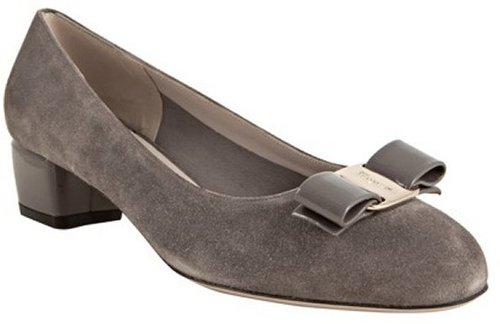 Salvatore Ferragamo mink suede 'Vara' low heel pumps