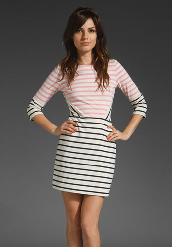 Markus Lupfer Stripe Panel Dress