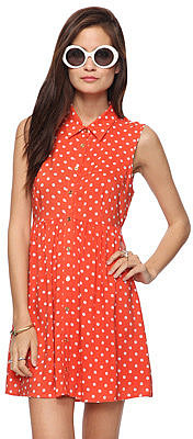 Forever 21 Polka Dot Shirtdress