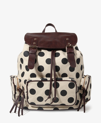 FOREVER 21 Polka Dot Backpack