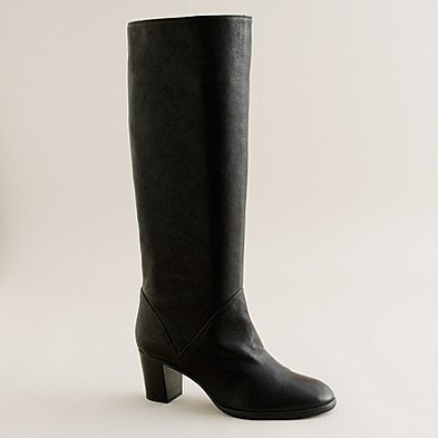 Sutton tall leather midheel boots