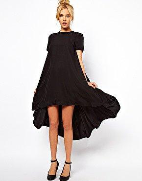 Image 1 ofASOS T-Shirt Dress With Dipped Back Hem