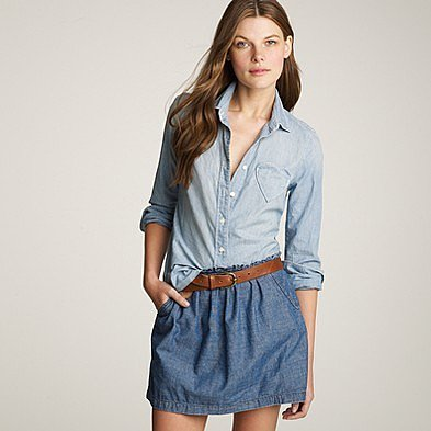 I heart chambray shirt