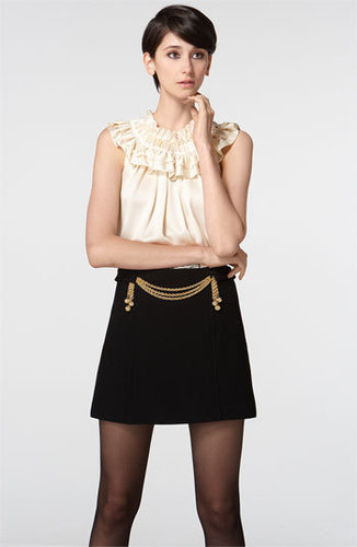 Milly &#039;Bette&#039; Ruffled Satin Top