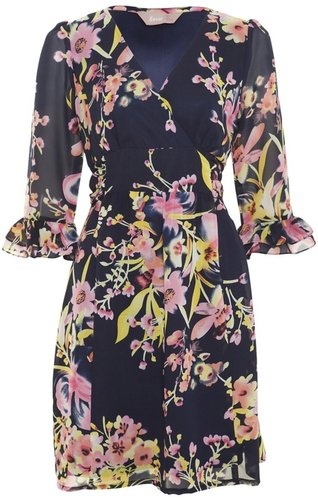 Print Portia Ruffle Dress