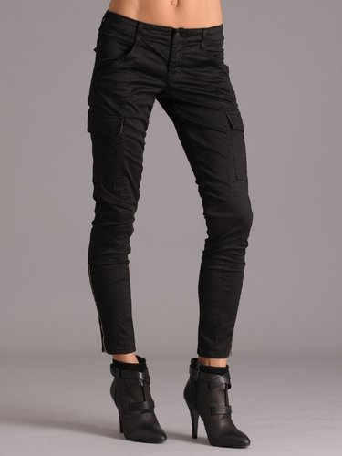 J Brand Houlihan in Black Sateen
